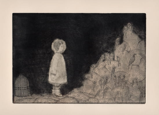 Rock Birds2012, etching, aquatint, drypoint, 6 x 9 inches