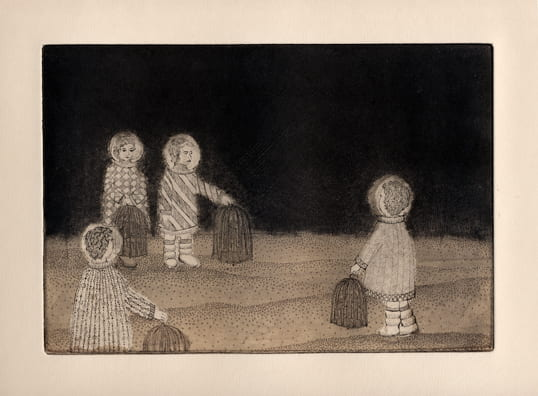 Cages2012, etching, aquatint, drypoint, 6 x 9 inches