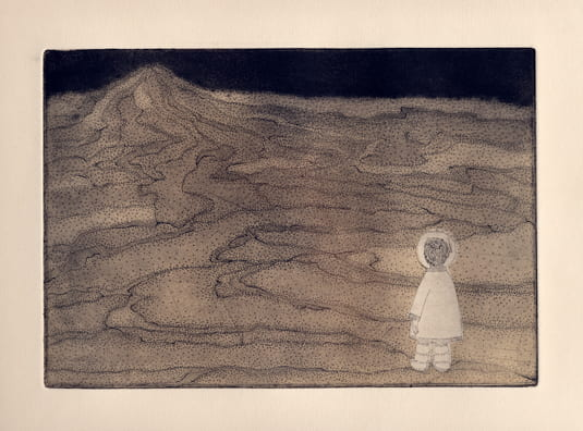 Mountain2012, etching, aquatint, drypoint, 6 x 9 inches