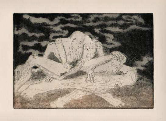 Old Man2012, etching, aquatint, drypoint, 6 x 9 inches