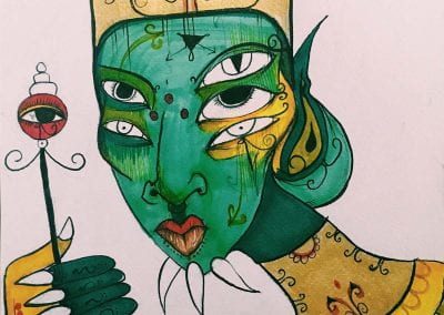 """""""Green-Skinned Pharoah"""" by Gabrielle Tesfaye"""