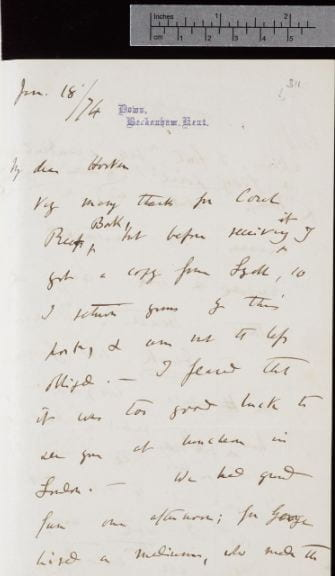 1.1. Example of a transcript generated for a handwritten letter University of Cambridge, Darwin Correspondence Project