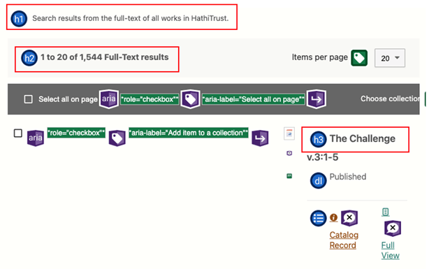 Example of heading tag applied properly