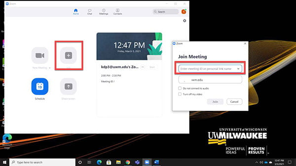 Zoom Join Meeting view.