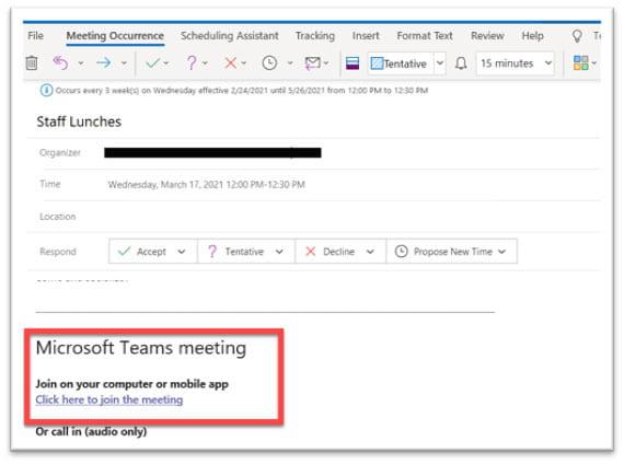 Outlook join meeting desktop application version.