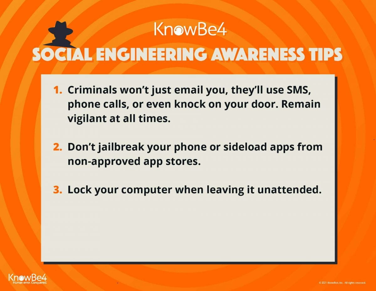 Cybersecurity Awareness Month : Social Engineering Awareness Tips
