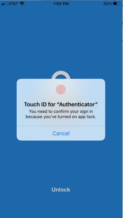 Figure 8 ( Touch ID enabled )