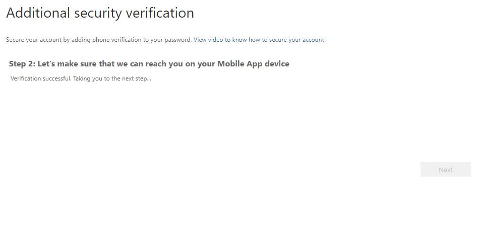 Additional security verification window