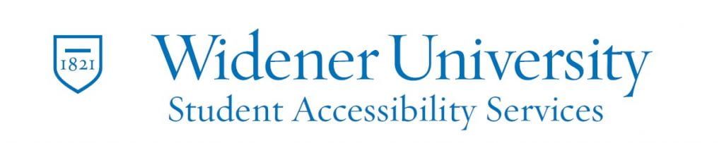 Widener University Student Accessibility Services Logo