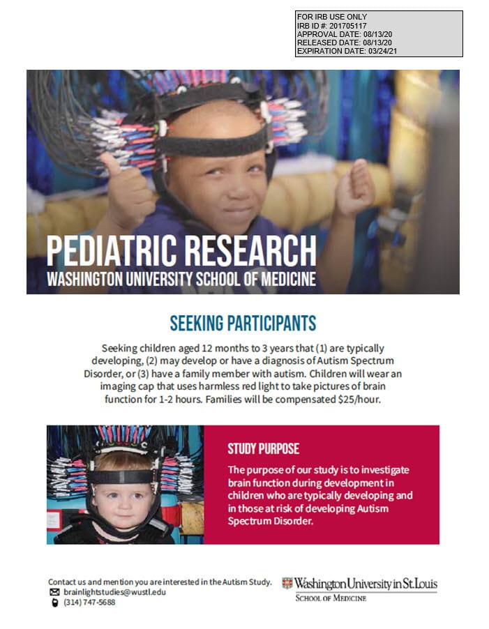 Autism Study Flyer