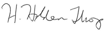 Holden Thorp Signature