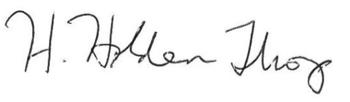 Holden Thorp Signature