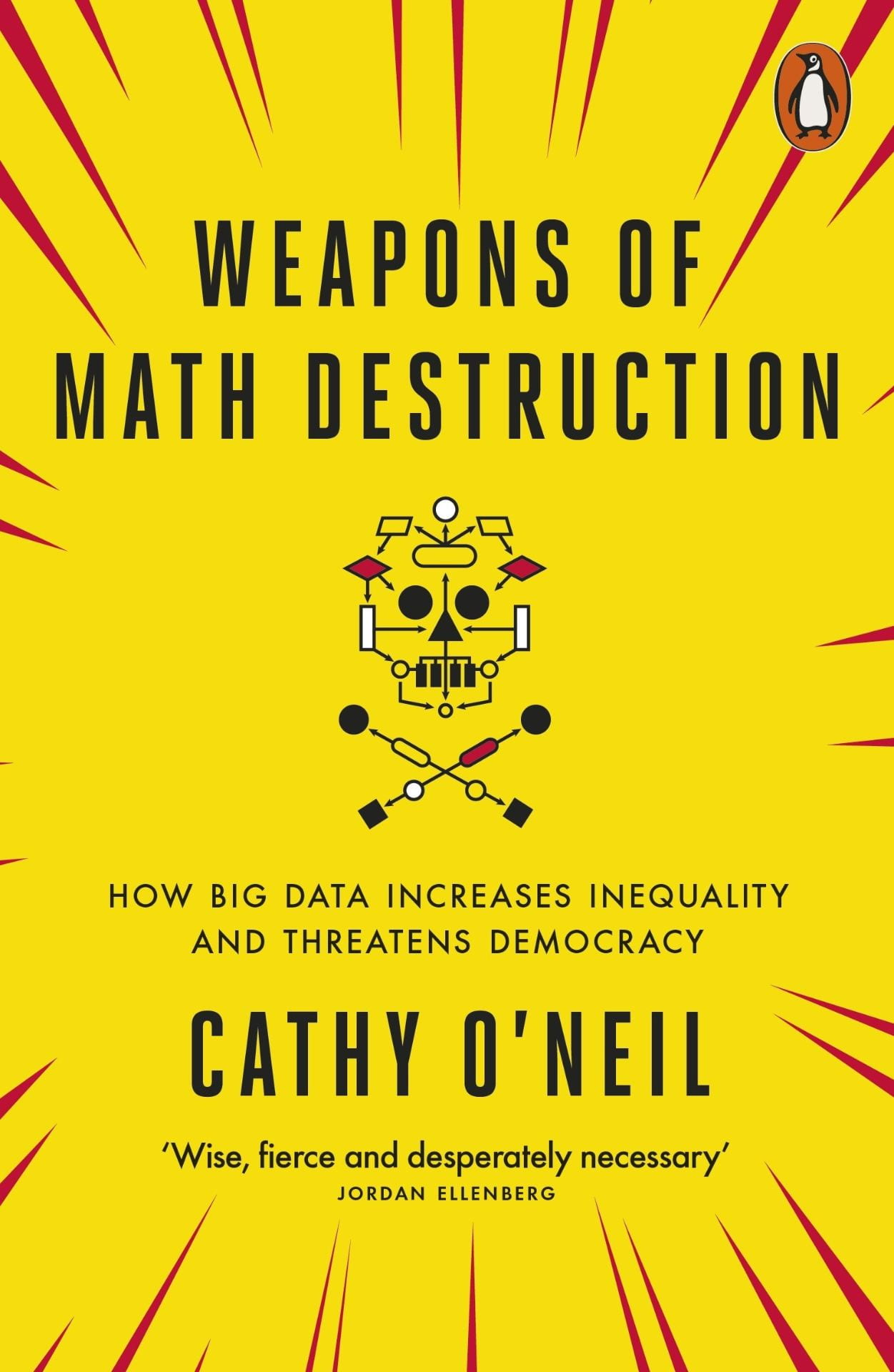 Front cover of Weapons of Math Destruction Book