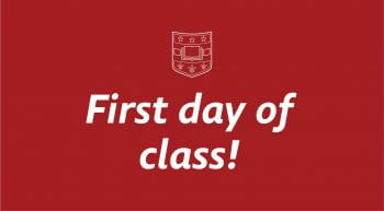 first day of class sign