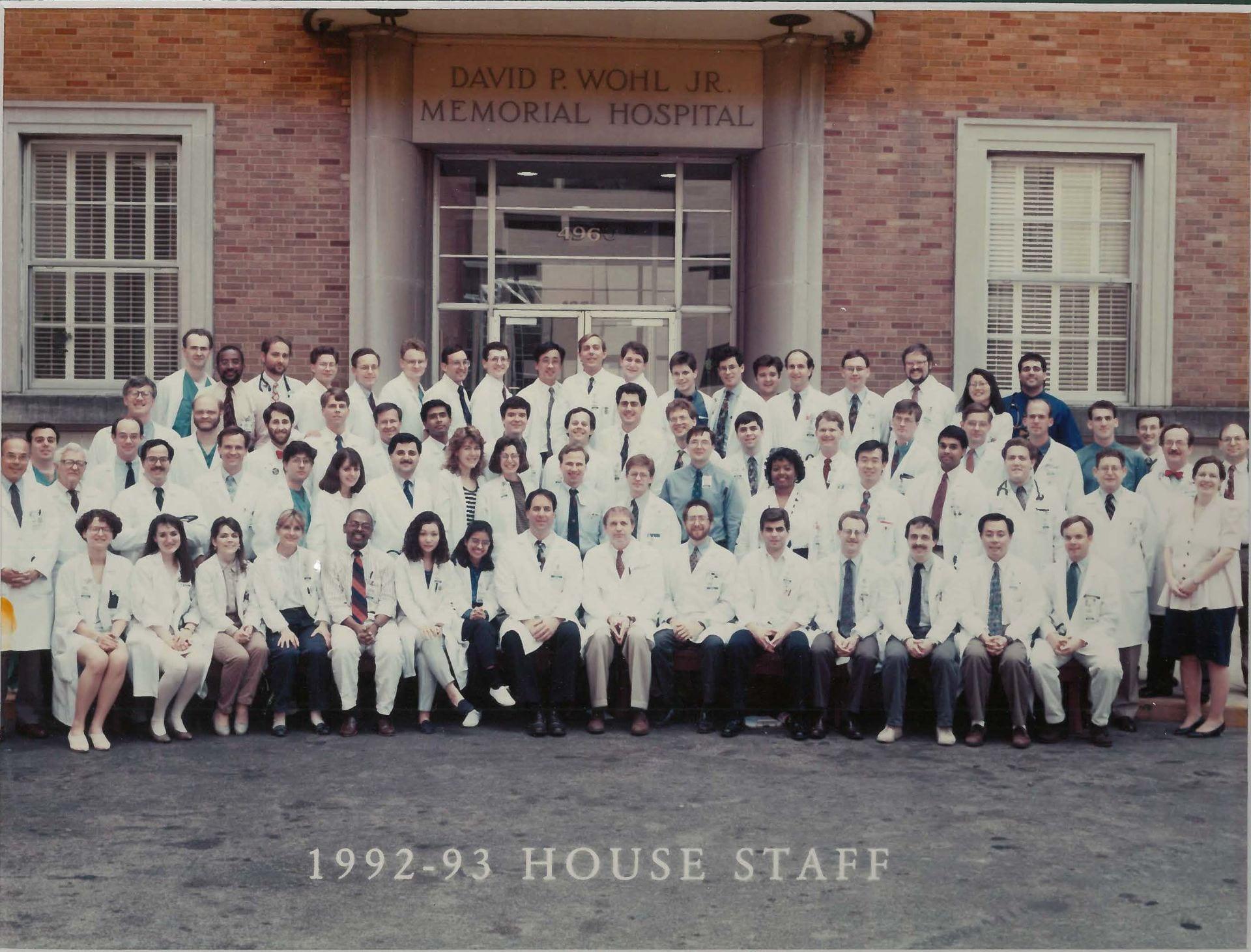 1992 Housestaff Photo