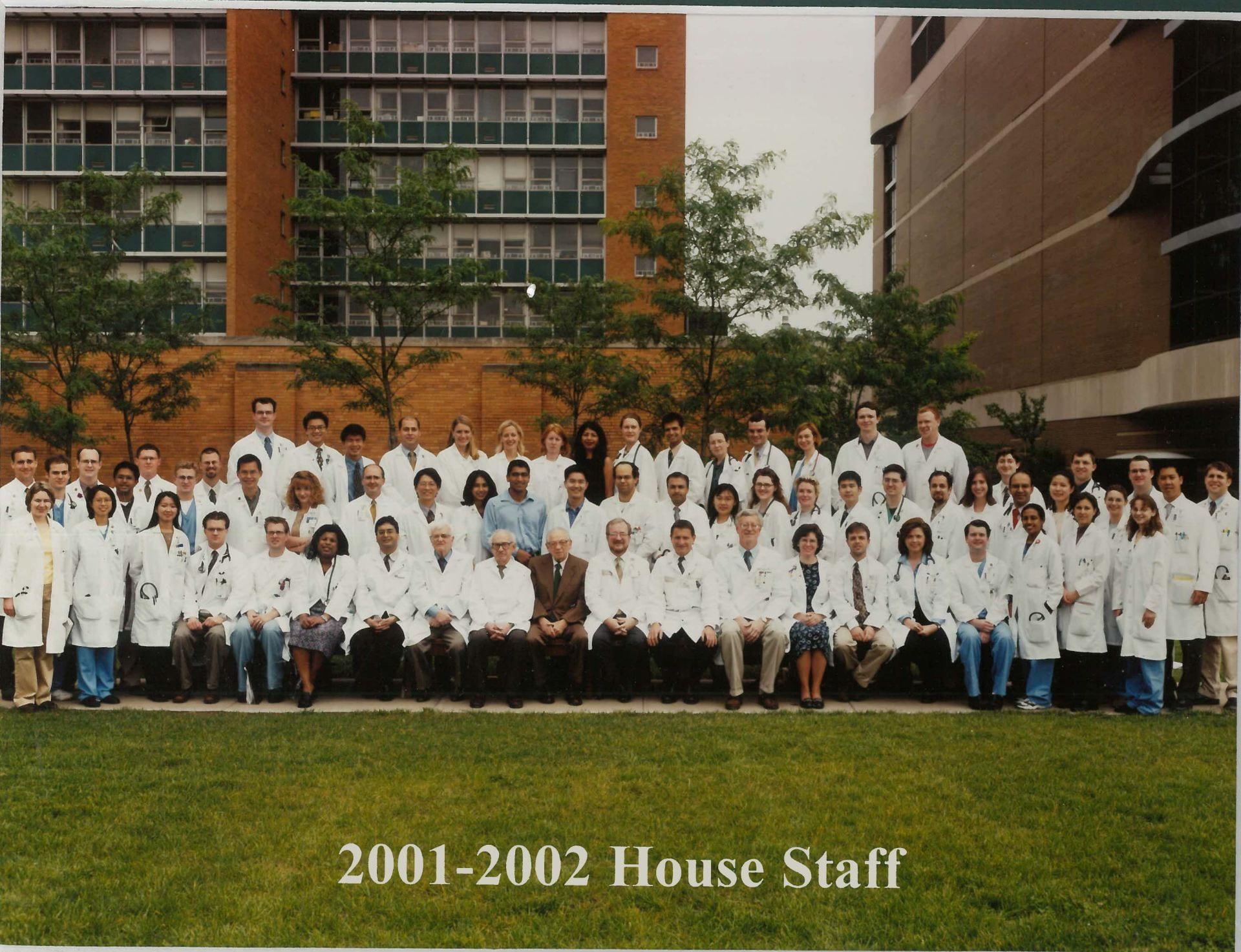 2001 Housestaff Photo