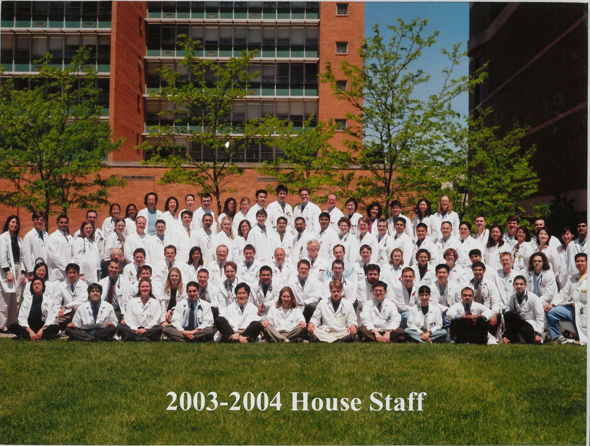 2003 Housestaff Photo