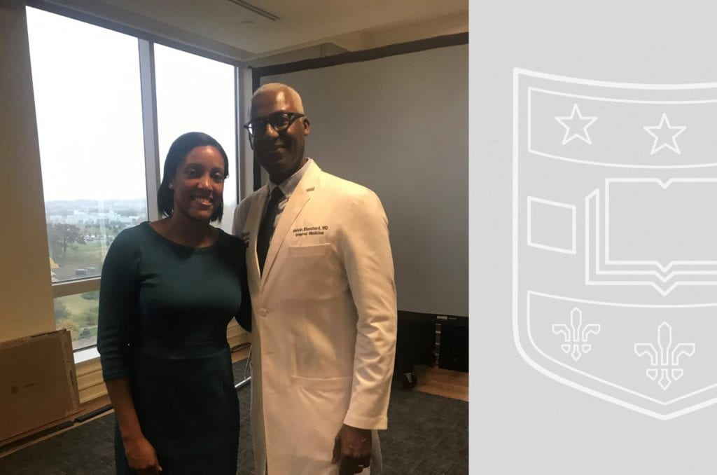 Left to Right: Dr. Erica Johnson & Dr. Melvin Blanchard