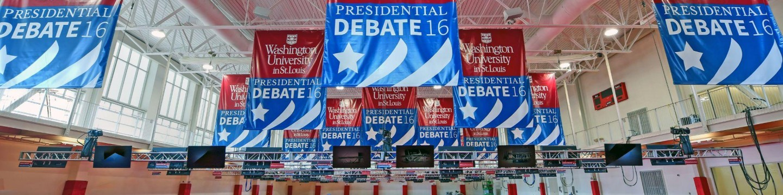 9.17.2016--Debate prep in and around the Sumers Recreation Center.James Byard/WUSTL Photos