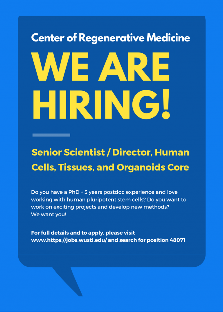 Opening for Human Cells, Tissues, and Organoids Core Director