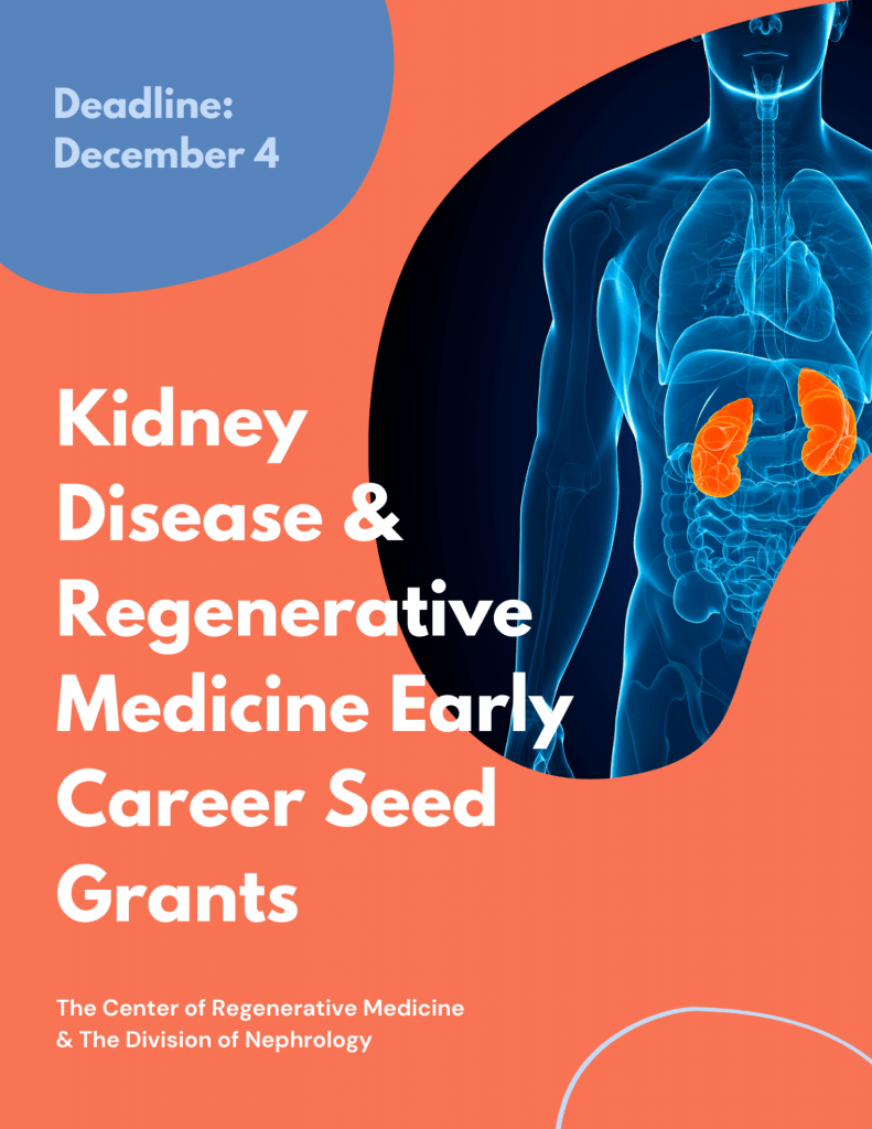 Early Career Kidney Disease & Regenerative Medicine Seed Grants Awarded