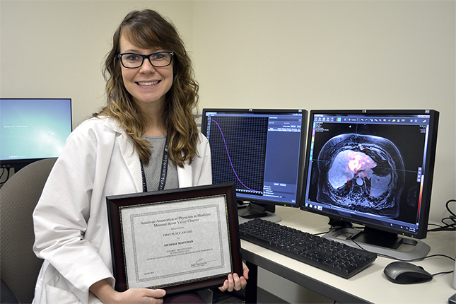 Medical physics resident takes first place in Young Investigator Symposium
