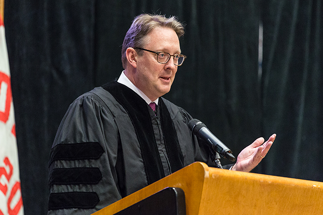 Jeffrey Bradley, MD, gives commencement address at Drury University