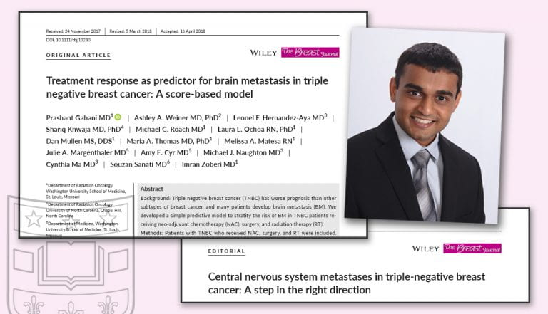 Gabani published as lead article in current issue of The Breast Journal