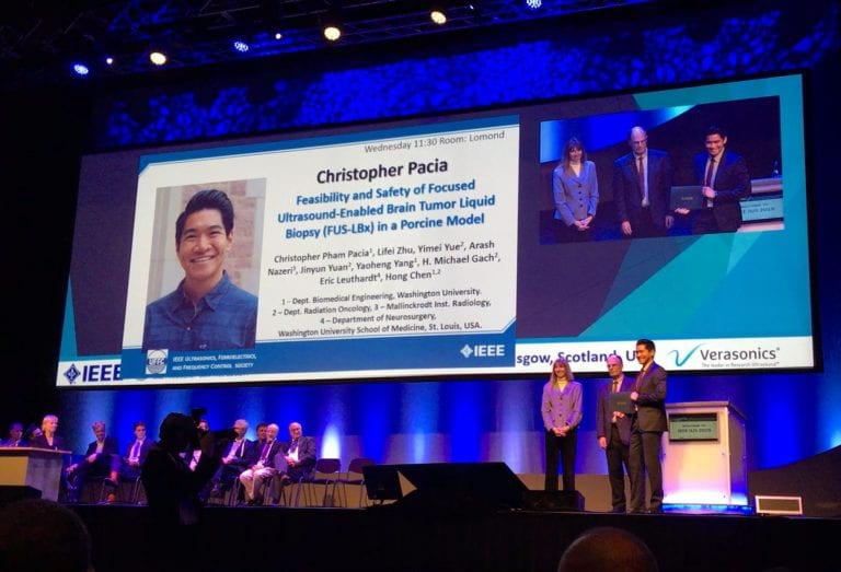 Chris Pacia Receives Prestigious Student Award