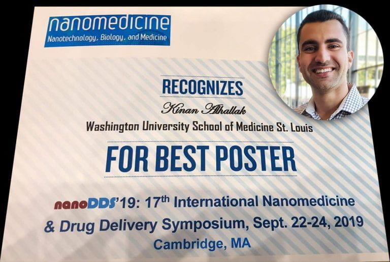 Kinan Alhallak wins Best Poster Award at NanoDDS