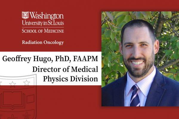 Hugo named Director of Medical Physics