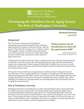 Snapshot of workforce development report