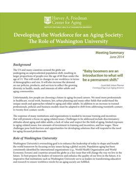 Snapshot of workforce development report
