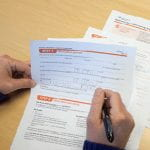 photo of insurance forms