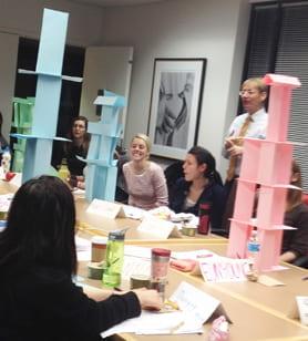 Geriatric Interdisciplinary teams practice activities with students