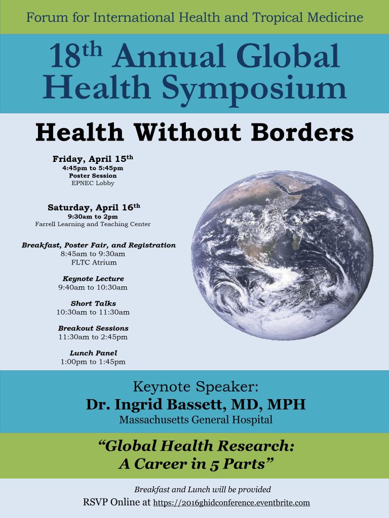 FIHTM Global Health Symposium 2016