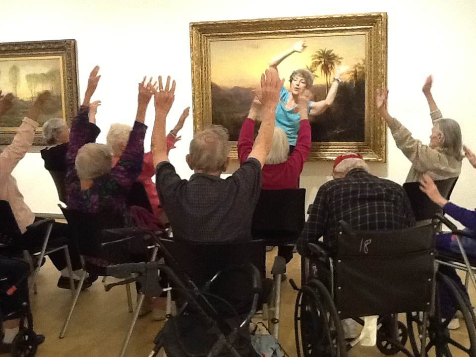 Alice Bloch leading KARE movement exercises
