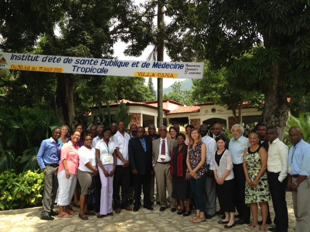 Washington University and Université Publique du Nord au Cap-Haitien administration, faculty, and students participated in a public health summer institute in July, 2015.