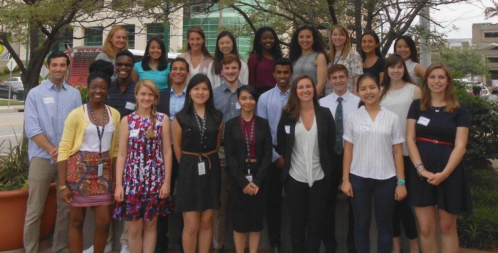 Student participants in the Institute's 2016 Summer Research Program