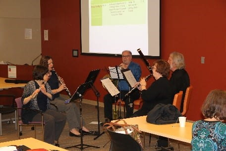 "A performance by ""A Fifth Above Woodwind Quintet"" including Washington University's own Doug Luke"