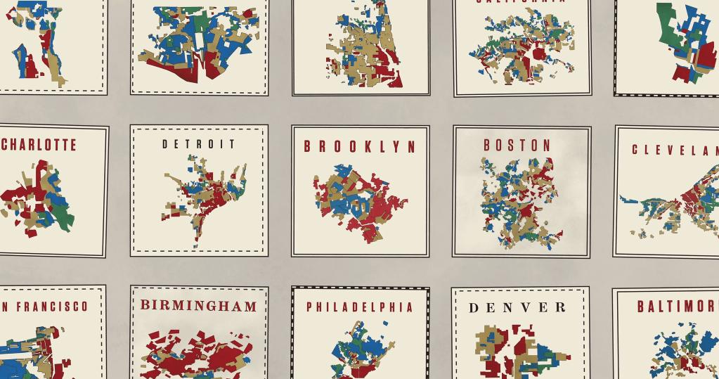 Graphic  depicting redlining in major U.S. cities