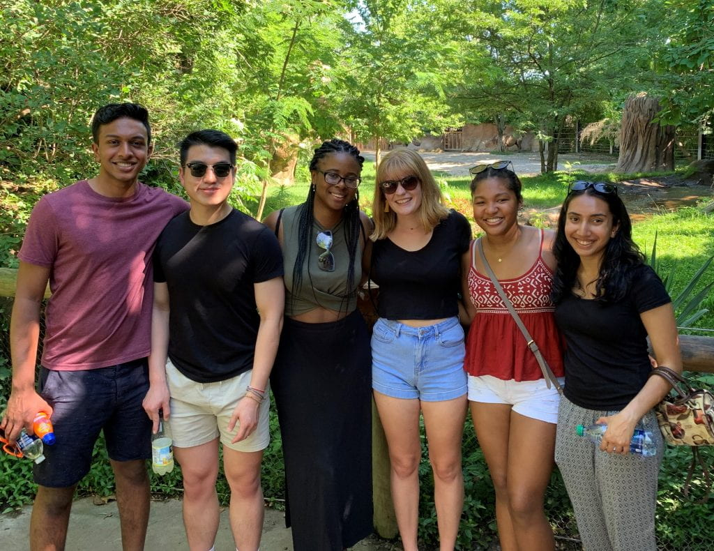 Summer Research Program students at the St. Louis Zoo.