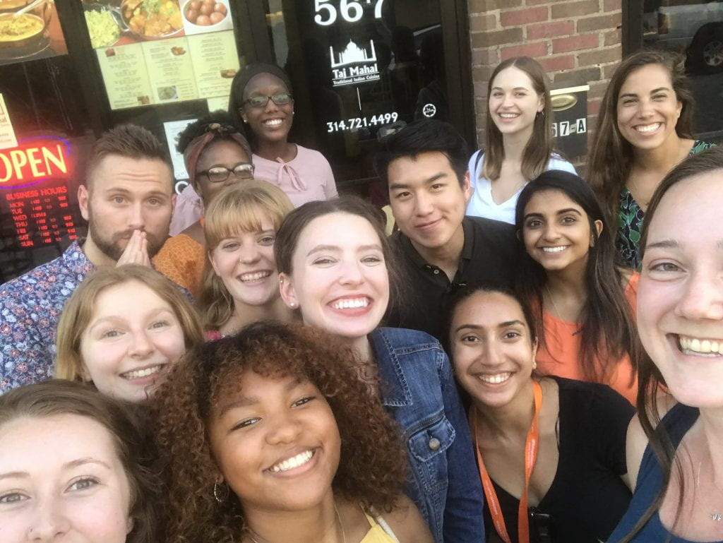 The 2019  Summer Research Program Cohort exploring St. Louis.