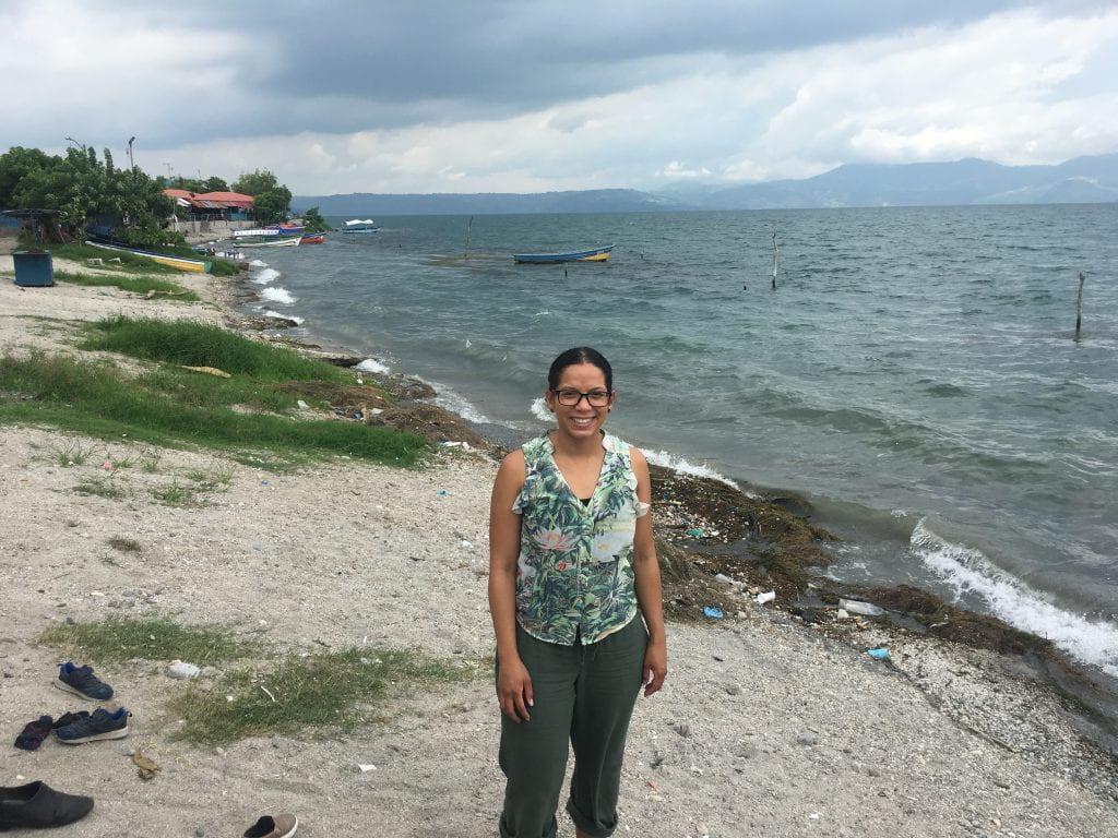 Blog author, Poli Rijos in El Salvador