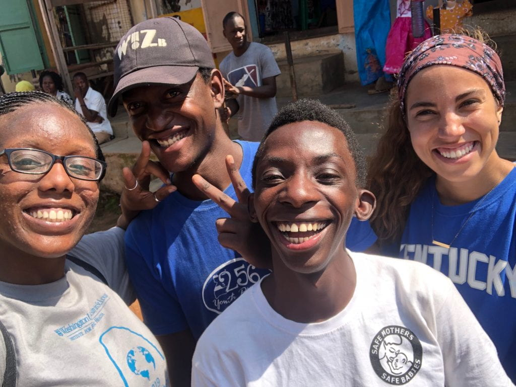 The author with friends in Iganga, Uganda.