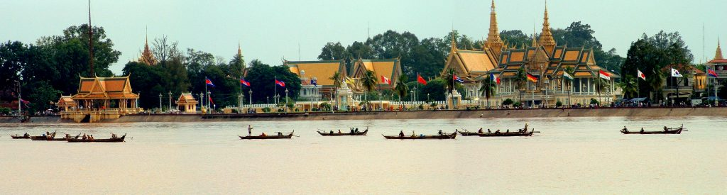 Cambodia,_Phnom_Penh,_Royal_Palace_as_seen_from_acros_Tonle_Sap_River