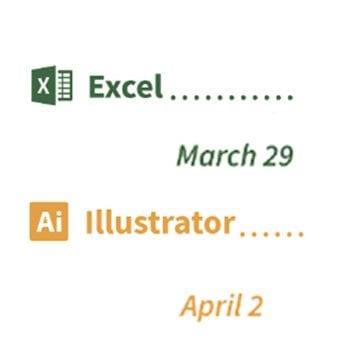 STS tech sessions: Excel and Illustrator