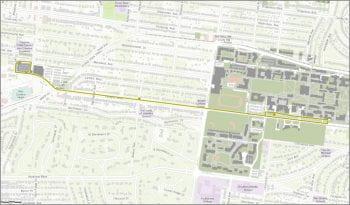 West Campus Shuttle Route