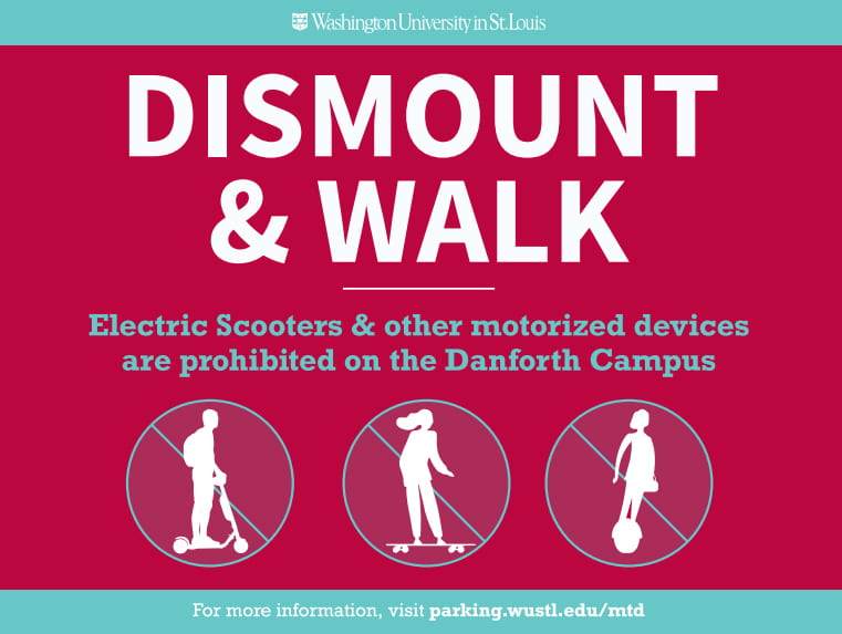 Dismount and walk your scooter