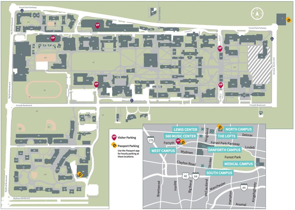 Open Danforth Visitor Parking Map